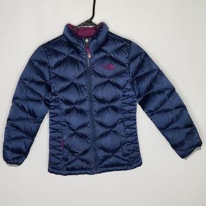 Girls North Face Aconcagua Jacket SZ M 10 12 Blue
